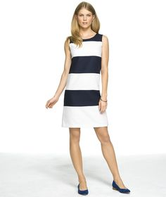 Sleeveless Shift Dress: DRESSES | Free Shipping at L.L.Bean