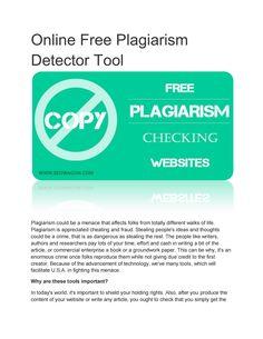 Detect plagiarism online