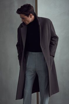 589 best mens fashion coat images in 2018 Trendy Mens Fashion, Mens Fashion Suits, Fall Fashion Outfits, Look Fashion, Mens Suits, Mens Autumn Fashion, Guy Fashion, Fashion Shirts, Fashion Photo
