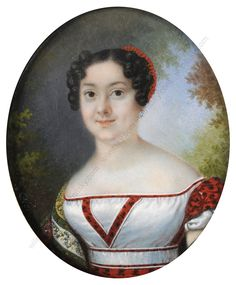 Pierre Charles Cior, Portrait of a woman, 1820/25