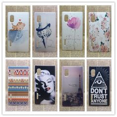 New 2014 transparent side Painting Hard Plastic Phone Case For LG Optimus L5 E610 E612 Skin Back Cover +Screen protector