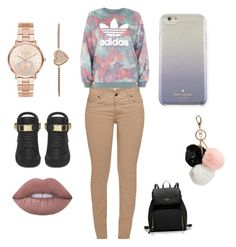 """Untitled #5"" by akira7072013 on Polyvore featuring Barbour, adidas, Michael Kors, GUESS, Kate Spade and BUSCEMI"