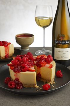 A cross between a cheesecake, fridge tart and pumpkin pie -- you'll want to make blogger Thuli Gogela's creation for that special occasion! www.essentials.co.za/recipe/no-bake-isijingi-cheesecake-raspberry-compote