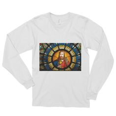 Jesus Christ Stained Glass Long sleeve t-shirt (unisex)
