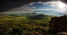 The České středohoří, Central Bohemian Uplands, Czech Republic. Mountain Range, Czech Republic, Magick, Bohemian, Mountains, Landscape, Unique, Pictures, Travel