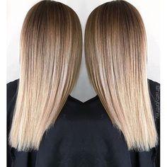 Soft bronde gradient. Color by @hairbybrittney_  #hair #hairenvy #haircolor #bronde #blonde #balayage #highlights #newandnow #inspiration #maneinterest