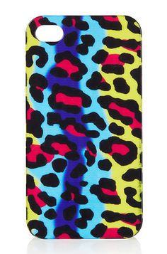 10 Stylish iPhone Cases and Covers: Topshop Bright Leopard iPhone 4 Shell. #Stylish365