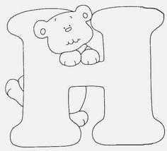 Afabeto moldes de letras urso fofo - letras molde para eva ursinho dengoso…