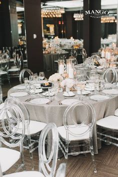 Fun modern shape chairs. However, they should not be used for a white-tie gala or ball, debutante ball or other traditional event. They are simply too casual and will lend that same feeling to your event. For formal events, use chiavari chairs. If you want to shake it up a bit, these are a good choice. www.visionfurniture.com