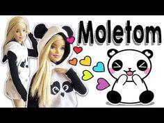 Moletom Panda   Como Fazer Roupa da Barbie e outras Bonecas - YouTube