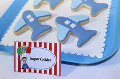 Airplanes and Parachutes Sugar Cookies