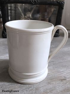 FleaingFrance.....RARE 1800's faience mug from the highly sought after Bordeaux mark.