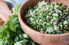 Classic Tabbouleh. Aki's tips for making the best tabouleh salad! Refreshing, healthy and light recipe, ideal for a midweek meal!