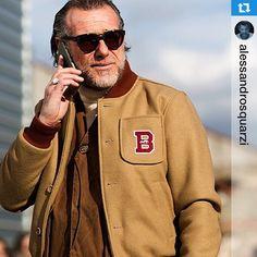 "#Saturnino Saturnino: #Repost @alessandrosquarzi GRAZIE ALESSANDRO in @saturninoeyewear #SaturninoEyeWear Scott Schuman @thesartorialist this photo saying ""Mr. chic Alessandro Squarzi! I love his Italian take on classic American sportswear"". Thank you so much Scott for this photo. ""Mr. Chic"" will be my new hashtag! #Alessandrosquarzi #ASstyle #gipsyclassic #Mrchic"