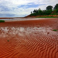 Piercing red sands cover more than half of Prince Edward Island's 500 miles of beaches.