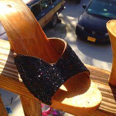 Glitter. Modpodge. Vintage heels.