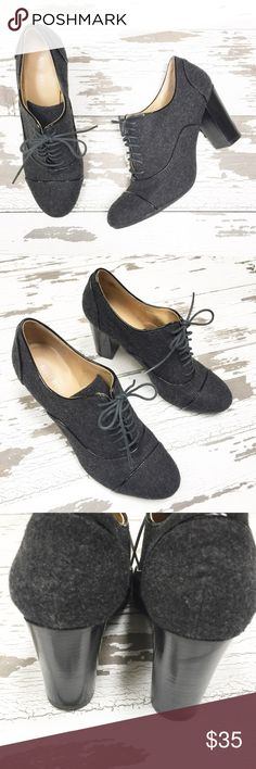 ⭐️Like New⭐️ Nine West Wool Shoes These lace up heels are in perfect like new condition. I believe I only wore them once. The heel height is approximately 3 inches. Nine West Shoes Heels