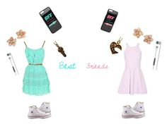 """""""Me and my BFF #Emilyray2"""" by kawii1245 on Polyvore featuring Elizabeth and James, Converse, JFR and Skullcandy"""