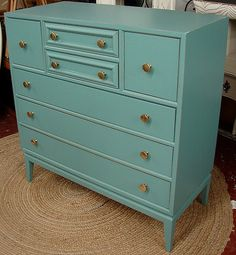 Reclaimed Vintage Robin Egg Blue Painted Mid by CURIOSITYNC, $389.95