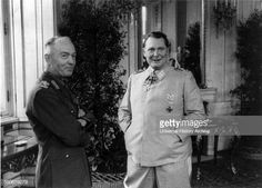 Photograph of Ion Antonescu and Hermann Göring at the Belvedere Palace Vienna Austria Dated 1941 Fighter Pilot, Luftwaffe, World War Ii, Wwii, Germany, Vienna Austria, People, Palace, Fotografia