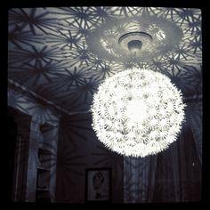 MASKROS PS IKEA light.dining room light at night by Lindsay Széchényi, via Flickr