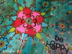 Art Journal Close-up 2 with New Stencils- Gwen Lafleur
