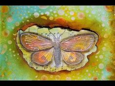 Art Journal Page: Gelatos & Tim Holtz Tissue Wrap - YouTube