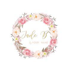 Premade Logo Watercolour Logo  Photography by JadeBlossomDesign