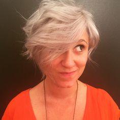 Gro London short blond hair for Redken