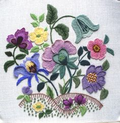 Larkrise A Crewel Embroidery kit from the Needlewoman's