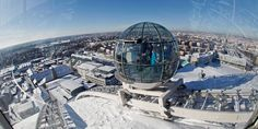 Visiting Stockholm but don't know where to get the best unobstructed view of the city? Go to the Globen SkyView and enjoy a stunning panorama of Stockholm.