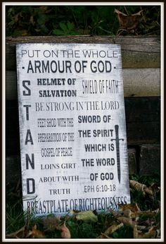 The Armour of God Scripture Wall Hanging by IngersonsImaginings, $25.00 - Silhouette Cameo