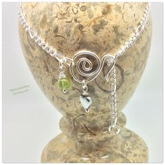 Peridot Wire Wrapped Anklet Peridot Wire Wrapped Ankle