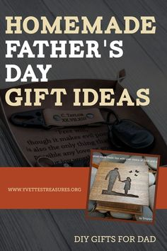 Easy homemade Father's Day gift ideas. Make a special gift for dad this Father's Day with some help from our very easy Father's Day gift ideas. #fathersday #giftsfordad #giftsforhim