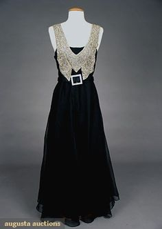 Beaded Chiffon Evening Gown, 1930s, Augusta Auctions, May 2007 Vintage Clothing & Textile Auction, Lot 731