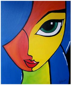 Qui sera l'élu ? Abstract Portrait Painting, Abstract Face Art, Black Art Painting, Oil Pastel Drawings, Art Drawings, Simple Canvas Paintings, Canvas Art, Tableau Pop Art, Cubism Art