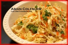 Asian Coleslaw  If you are tired of regular coleslaw, how about trying out Asian style coleslaw?