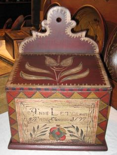 Rufus Porter Style Painted Boxes