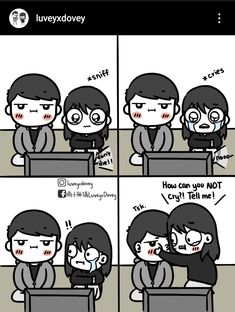 Love Cartoon Couple, Cute Couple Comics, Anime Love Couple, Cute Comics, Cute Anime Couples, Sweet Love Story, Cute Love Stories, Cute Love Memes, Crazy Funny Memes