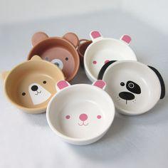 Export Japan / ceramic tableware / cute cartoon bowl / ceramic bowl / moe / baby children Bowl Set-ZZKKO