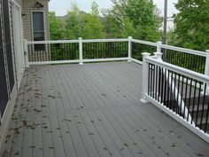composite deck gray with white | Composite Decking