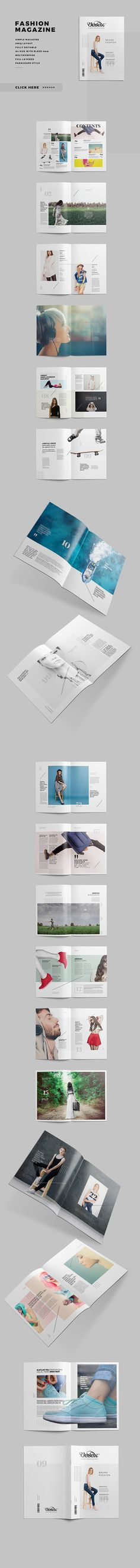 Fashion TriFold Brochure Template Psd  Brochure
