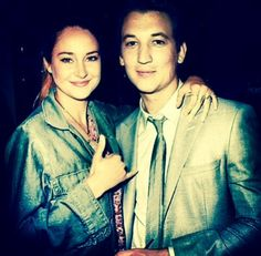 Shailene Woodley and Miles Teller, stars of Deivergent and The spectaular now