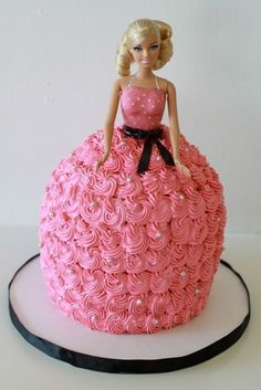 Barbie Cake! Easier to make than you think!