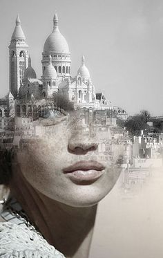 Blends Humans With Nature In Beautifully-Surreal Portrait Series La Cariátide by Antonio Mora.°La Cariátide by Antonio Mora. Portraits En Double Exposition, Exposition Photo, Surreal Photos, Surreal Art, Surreal Portraits, Fantasy Portraits, Photomontage, Creative Photography, Portrait Photography