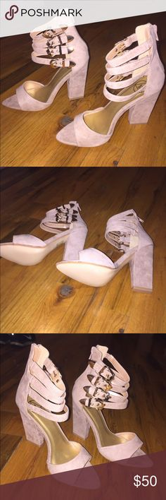 Size 7 Taupe Multi Buckle Heel Taupe Multi Buckle Heel from Missguided. Size 38 but