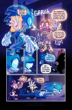 Ghosts of the Future, Issue 17 Page 5! Not in front of the children! Okida :Sonic had crossed the line so much in this one explosion of anger he had left Tikal with no choice but to reveal......