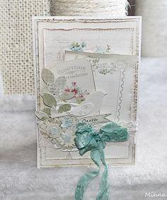 Viikonlopun väkerrys, onnittelukortti:) Linnun, lehdet ja kukat stanssasin Sizzixin stanssilla Floral Wreath . Paperit Pion Designin eri ko...