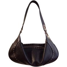 Pre-owned Bag (2 560 ZAR) ❤ liked on Polyvore featuring bags, handbags, black, escada bags, black bag, escada purse, logo bags and preowned handbags