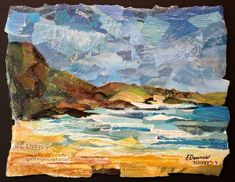 """Eileen Downes the collage artist who """"paints"""" with bits of torn paper for a palette"""